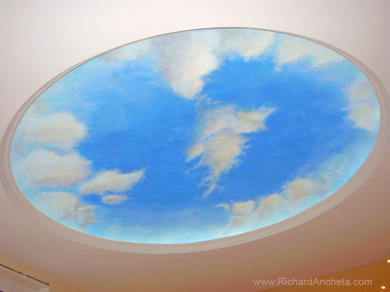 Dome and Pergola Clouds Ceiling Painting - Montreal