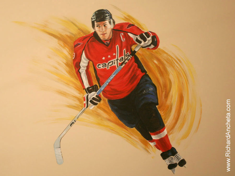 Hockey portraits and celebrity mural painting montreal for Celebrity mural