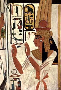Wall painting of Queen Nefertari