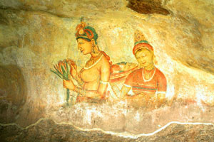 fresco painted on Sigiriya Rock