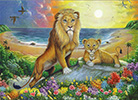Lion and Cub Oil Painting